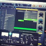 Having lots of fun making my new electronic track. #loopsample……